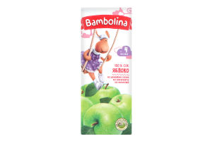 Сік для дітей від 4міс Яблуко Bambolina т/п 0.2л