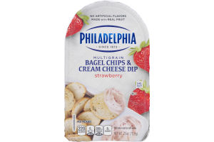Philadelphia Multigrain Bagel Chips & Cream Cheese Dip Strawberry