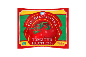 Паста томатная 25% Господарочка д/п 70г
