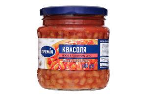 Фасоль в томатном соусе нежная Премія с/б 480г
