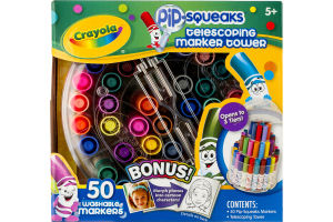 Crayola PiP-Squeaks Telescoping Marker Tower