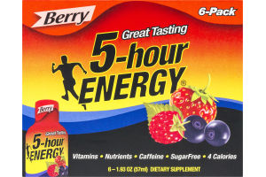 5-Hour Energy Dietary Supplement Berry - 6 CT