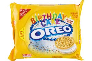 Nabisco Oreo Sandwich Cookies Birthday Cake Flavor