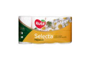 Бумага туалетная Ромашка Selecta Ruta 8 рул