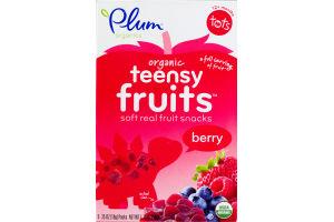 Plum Organics Teensy Fruits Snacks Berry - 5 CT