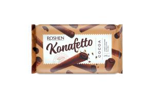Трубочки вафельні з начинкою крем-какао Konafetto Cocoa Roshen м/у 140г