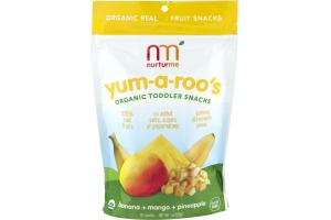 Nurturme Yum-a-roo's Organic Toddler Snacks Banana + Mango + Pineapple
