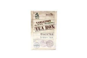 Асорті чаїв. Чай цейлонський чорний байховий листовий 50г та Чай китайський зелений байховий листовий TeaBox 50г
