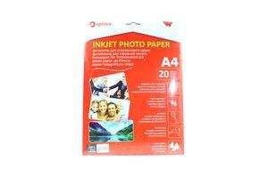 Фотопапір Optima для струменевого друку А4 20арк.