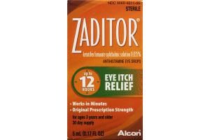 Zaditor Antihistamine Eye Drops