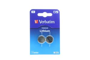 Verbatim Premium Lithium батарейки CR2032 3V 2шт