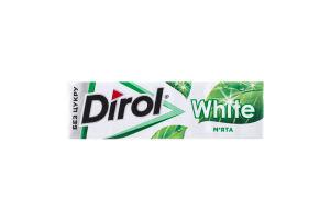 Резинка жевательная без сахара Мята White Dirol м/у 14г