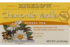 Bigelow America's Classic Chamomile Vanilla and Honey Herbal Tea - 20 CT