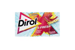 Резинка жевательная без сахара Свежесть малины и лимона X-Fresh Dirol к/у 13.5г
