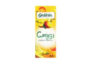 Смузи из смеси банана и манго Galicia т/п 0.2л