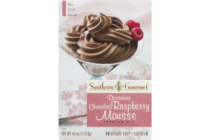 Southern Gourmet Premium Mix Decadent Chocolate Raspberry Mousse