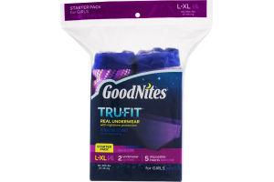 GoodNites TRU-FIT Real Underwear Starter Pack for Girls - L/XL
