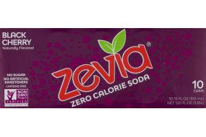 Zevia Zero Calorie Soda Black Cherry - 10 CT
