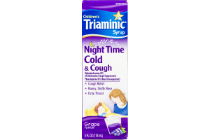Triaminic Syrup Night Time Cold & Cough Grape 4oz