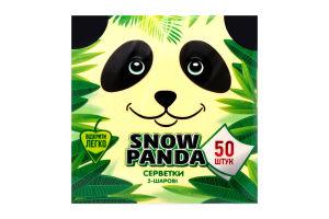 Салфетки желтые Снежная панда 50шт