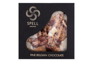 Шоколад темний білий з карамеллю пеканом та кокосом Spell к/у 100г