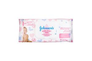 JOHNSON'S® Дитячі вологі серветки «Лагідна турбота»