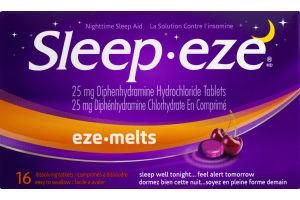 (CN) Sleep-eze Eze-Melts Dissolving Tablets - 16 CT, Sleep-eze Eze-Melts Comprimes A Dissoudre - 16 CT