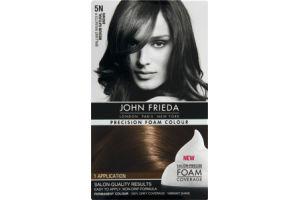 John Frieda Precision Foam Colour Brilliant Brunette 5N Medium Natural Brown Permanent Colour