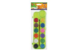 Краски акварельные сухие 12 цветов №ZB.6559-02 Kids Line Zibi 1шт