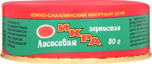 Ікра Южно-сахалінський Ікорний Дім лососева зерниста з/б 80г х6