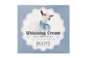 Крем для лица отбеливающий с экстрактом козьего молока Jigott 70мл