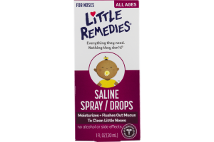 Little Remedies Saline Spray/Drops All Ages