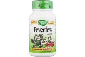 Nature's Way Feverfew Leaves 380mg Capsules - 100 CT