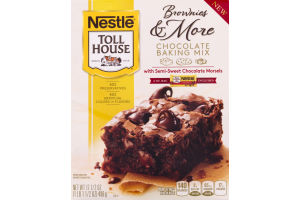 Nestle Toll House Brownies & More Chocolate Baking Mix with Semi-Sweet Chocolate Morsels