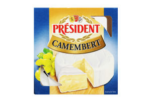 Сир 60% м'який Camembert President к/у 90г