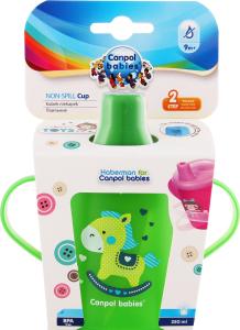 Кружка-непроливайка для детей от 9мес 250мл №31/200_gre Canpol babies 1шт