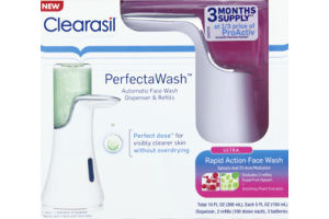 Clearasil Perfecta Wash Automatic Face Wash Dispenser & Refills