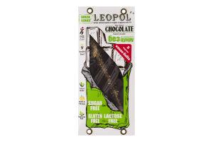 Шоколад без цукру з какао Чорний Green series Leopol' к/у 75г
