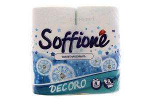 Туалетная бумага синяя Decoro Soffione 4шт