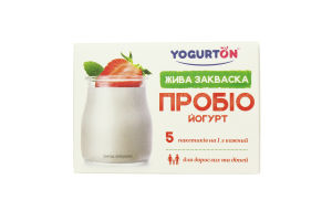 Закваска сухая бактериальная Пробио Йогурт Yogurton к/у 5х1г
