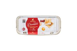 Яйця курячі харчові столові С0 Домашні Квочка к/у 10шт