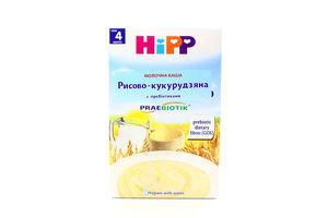 Каша молочная для детей от 4мес с пребиотиками Рисово-кукурузная Hipp к/у 250г
