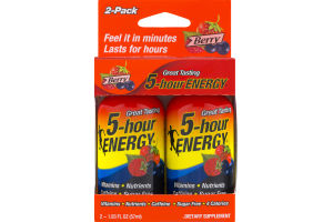 5-Hour Energy Dietary Supplement Berry - 2 CT