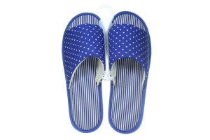 Тапочки открытые комнатные женские Twins синие 36-37
