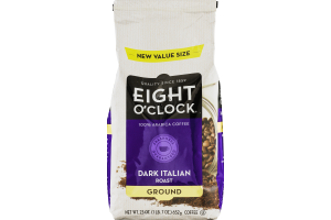 Eight O'Clock Coffee Dark Italian Roast Ground