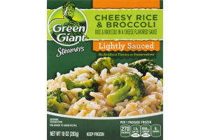 Green Giant Steamers Cheesy Rice & Broccoli Lightly Sauced