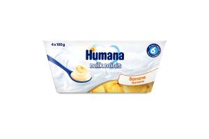 Продукт кисломолочний з бананом для дітей від 6міс Humana п/у 4х100г