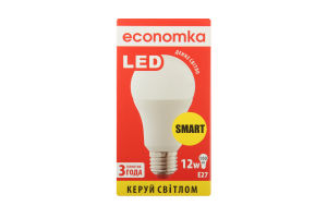 Лампа світлодіодна Economka LED A60 12W E27 4200K 1шт