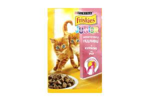 Корм для котят с курицей в подливке Junior Friskies м/у 100г