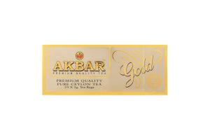 Чай чорний цейлонський Gold Akbar к/у 25х2г